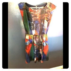Alice + Olivia abstract multi color dress XS